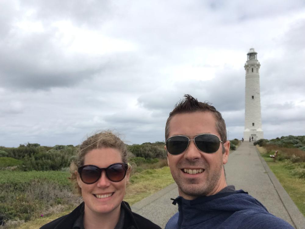 Beim Cape Leeuwin - dem südwestlichsten Punkt von Australien.