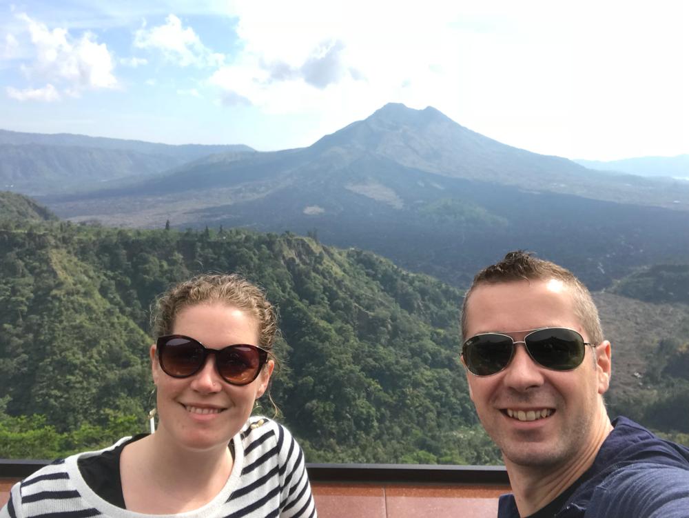 Blick auf den Mount Batur