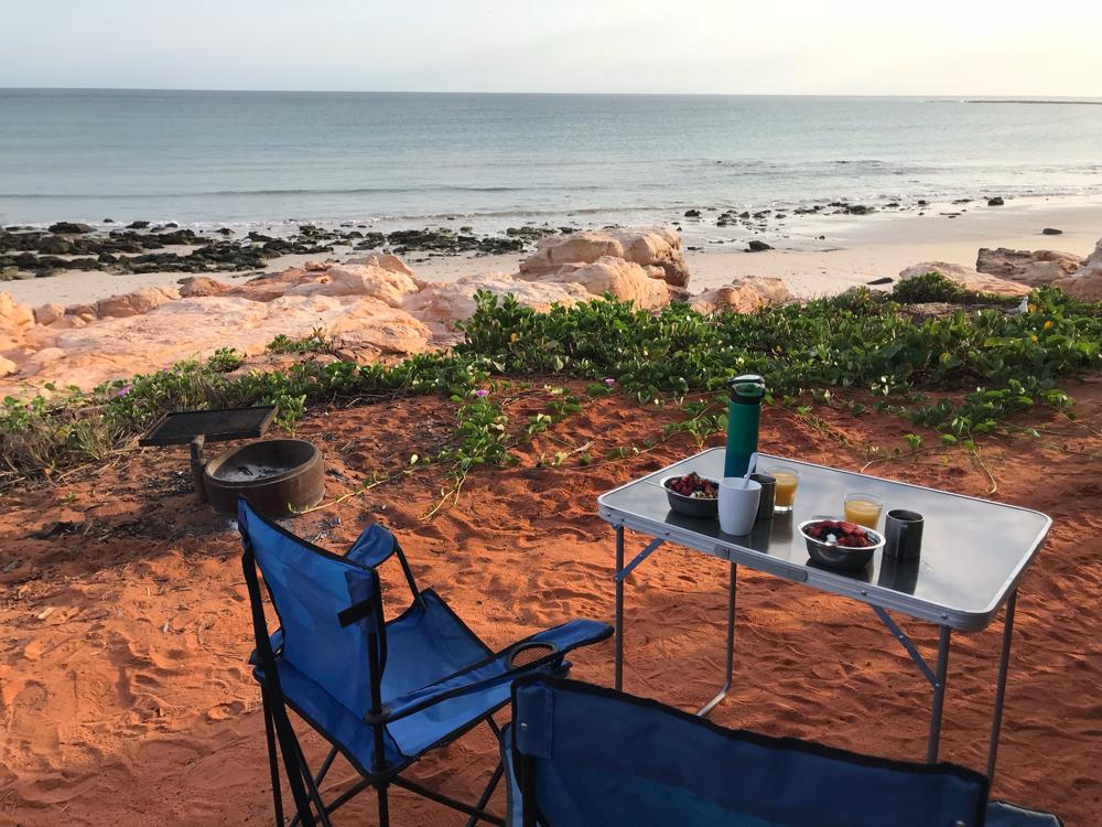 Frühstück mit View am Cape Leveque.