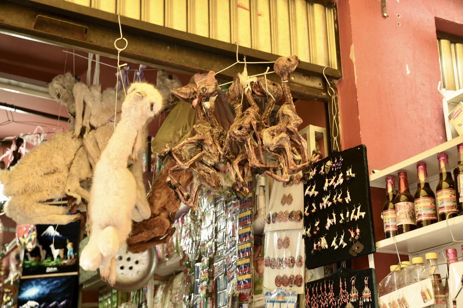 Lamaföten auf dem Hexenmarkt...