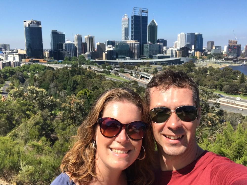 Schön, wieder in Perth zu sein.