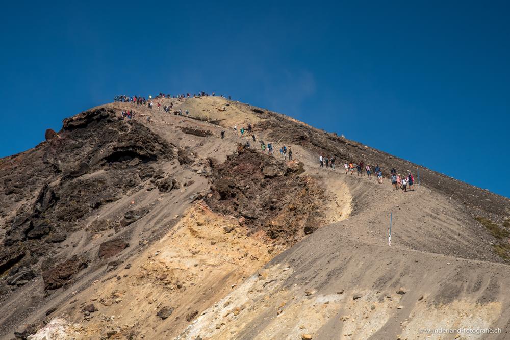 Bis zu 2000 Wanderer begehen den Trail bei gutem Wetter täglich.