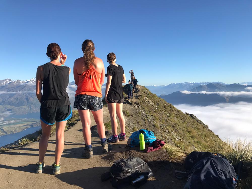 Anstehen für ein Selfie beim bekannten Roys Peak.