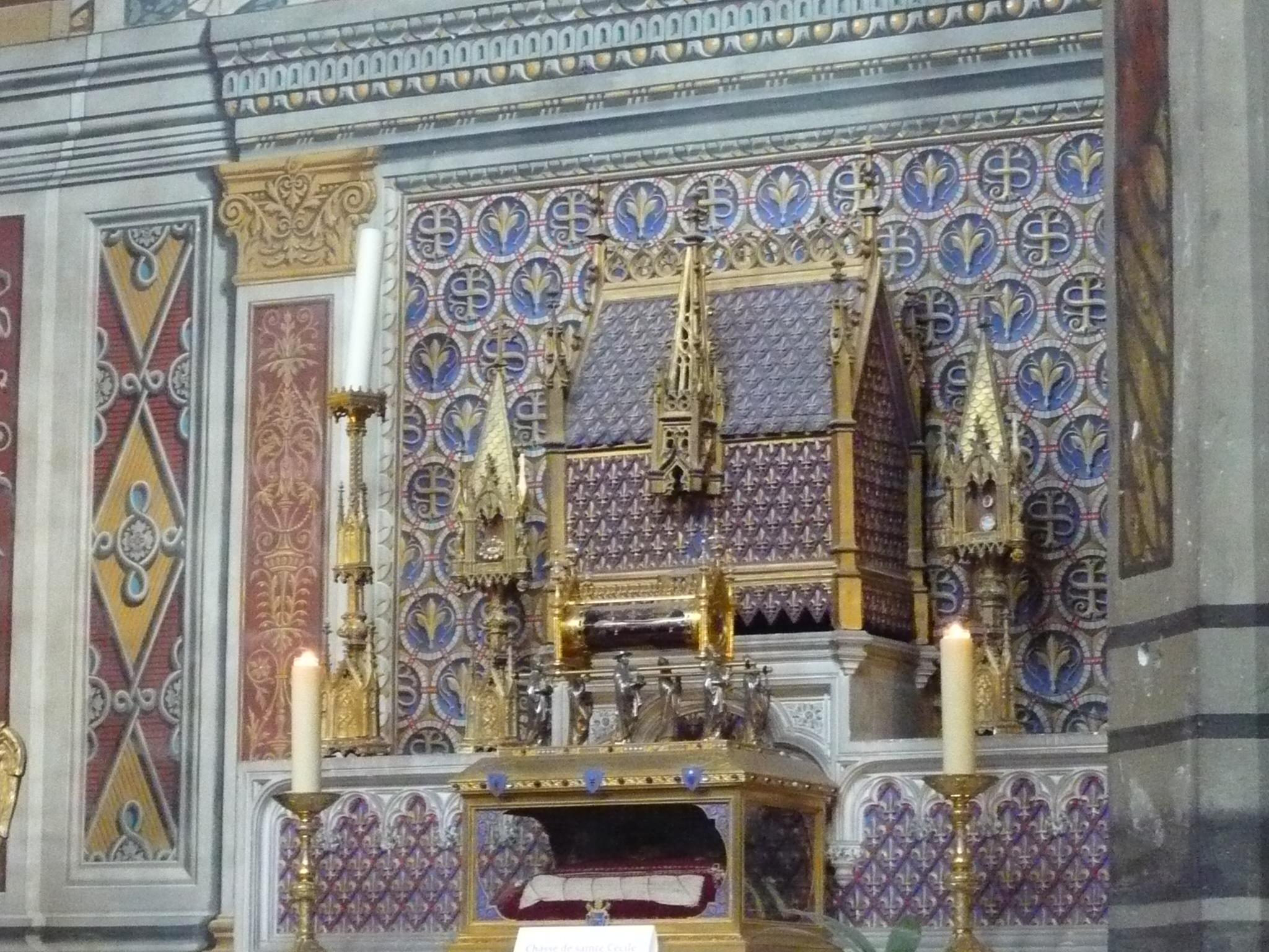Chasse contenant les reliques de Sainte Cécile