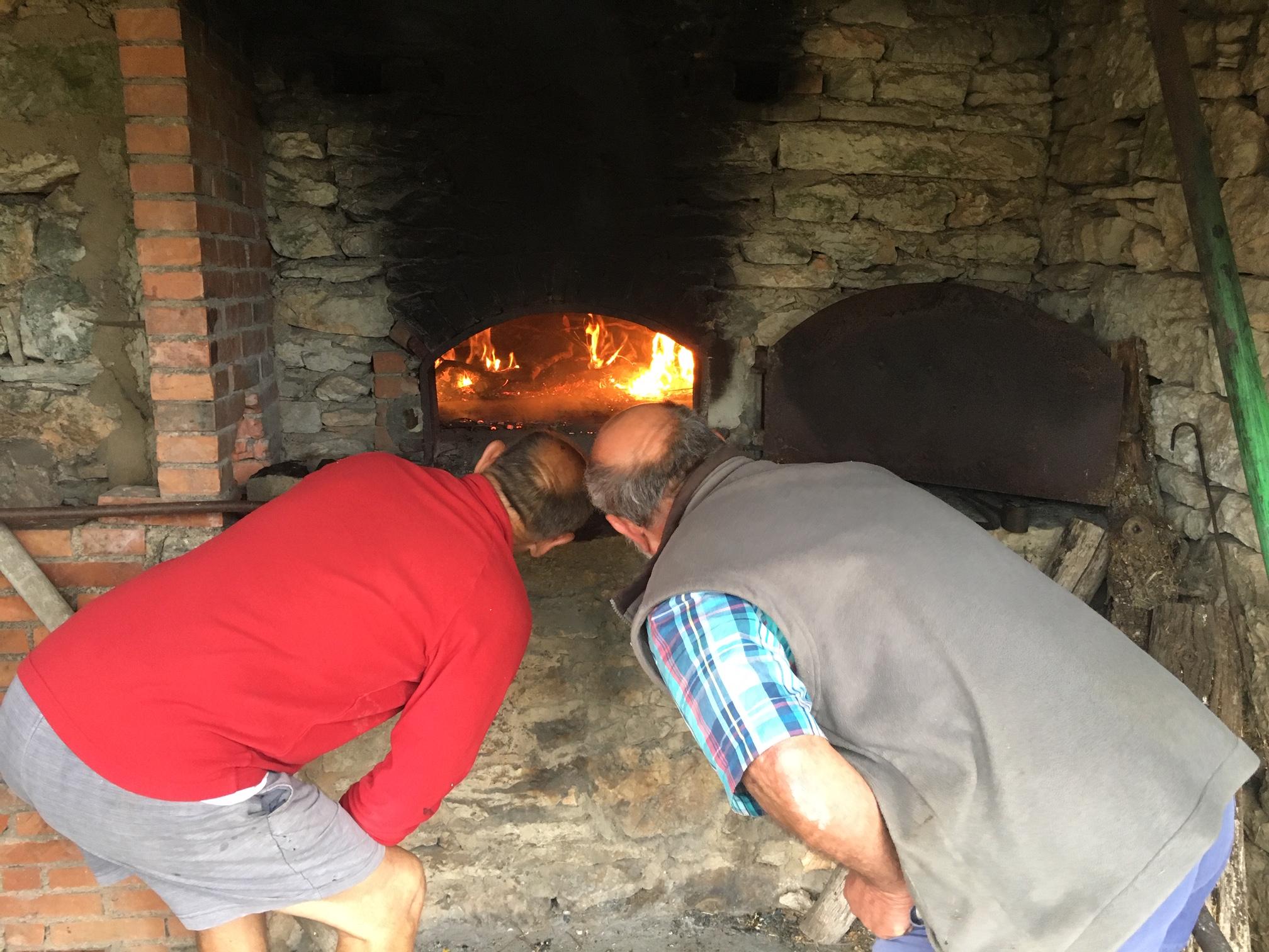 La veille, préchauffage du four et test de cuisson