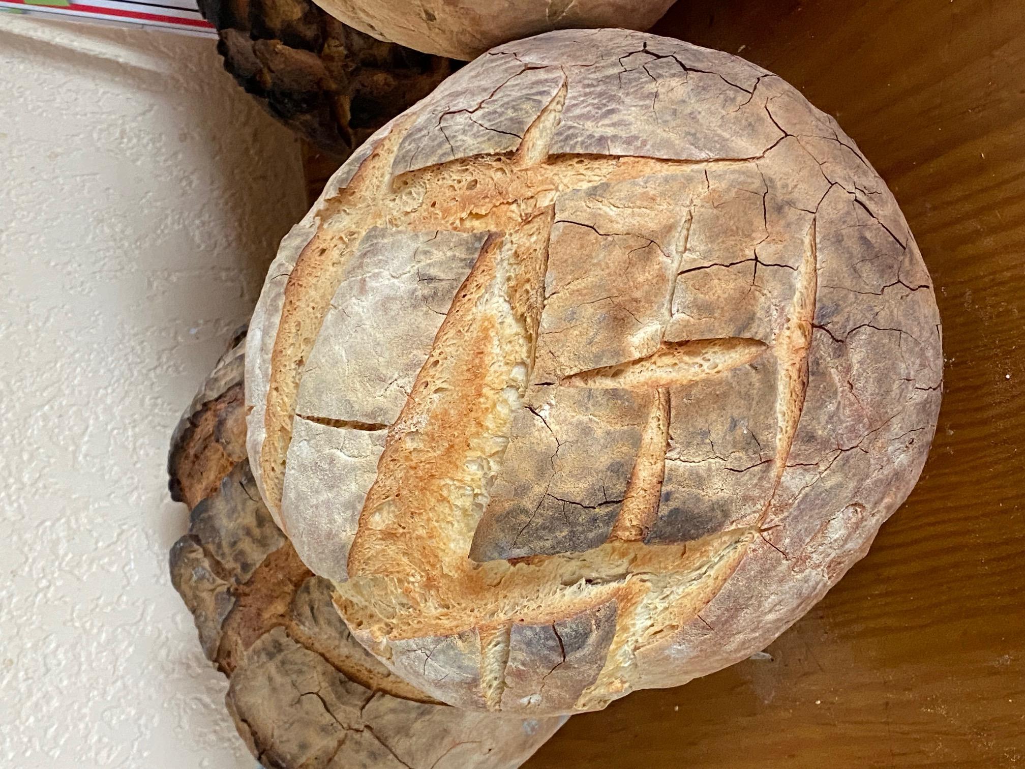 Le pain est prêt pour le repas