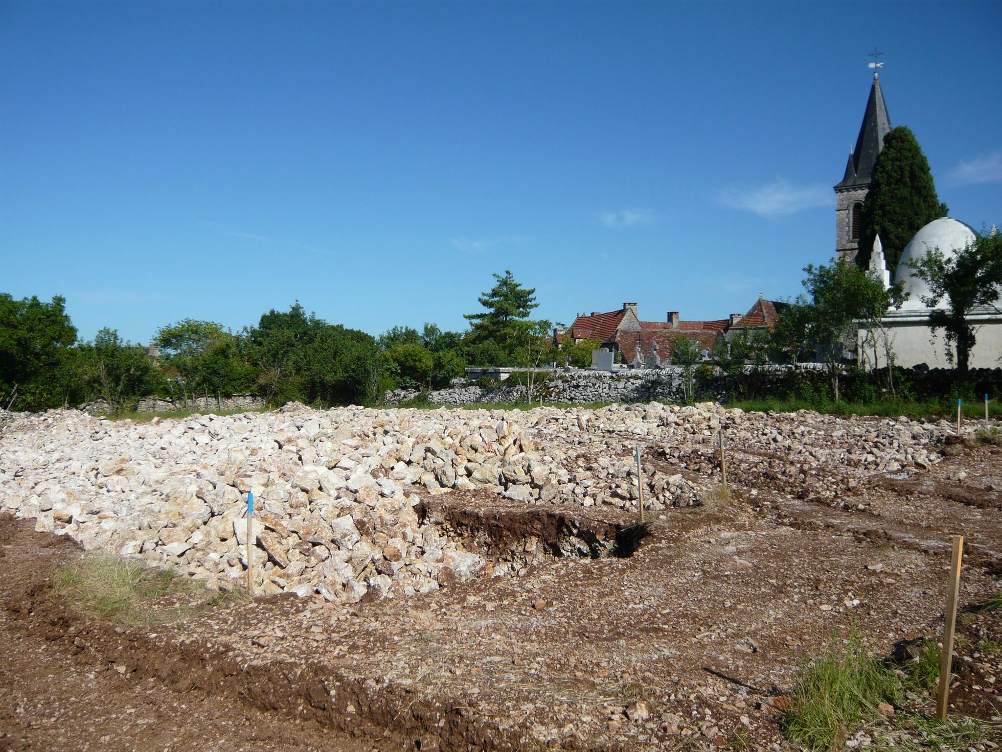 04 Juillet : Le terrassement est terminé