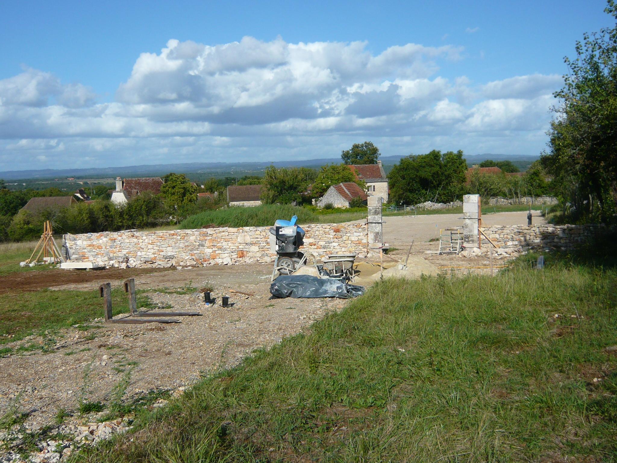 Mur de clôture : le chantier en cours