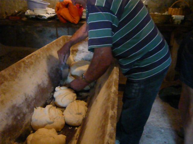 Préparation des pâtons