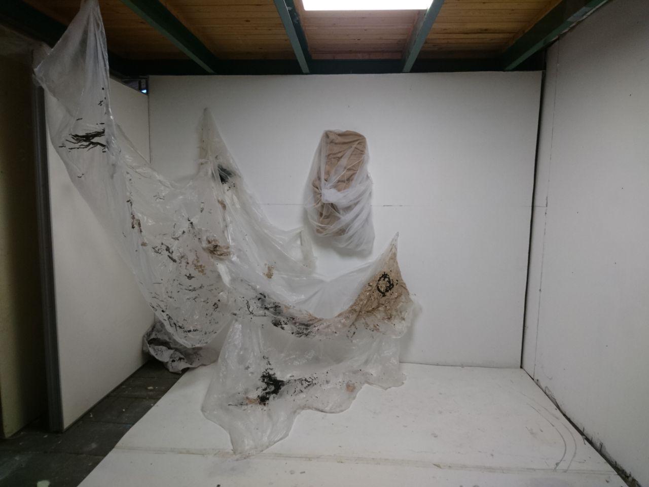 Textile, plastic and paint