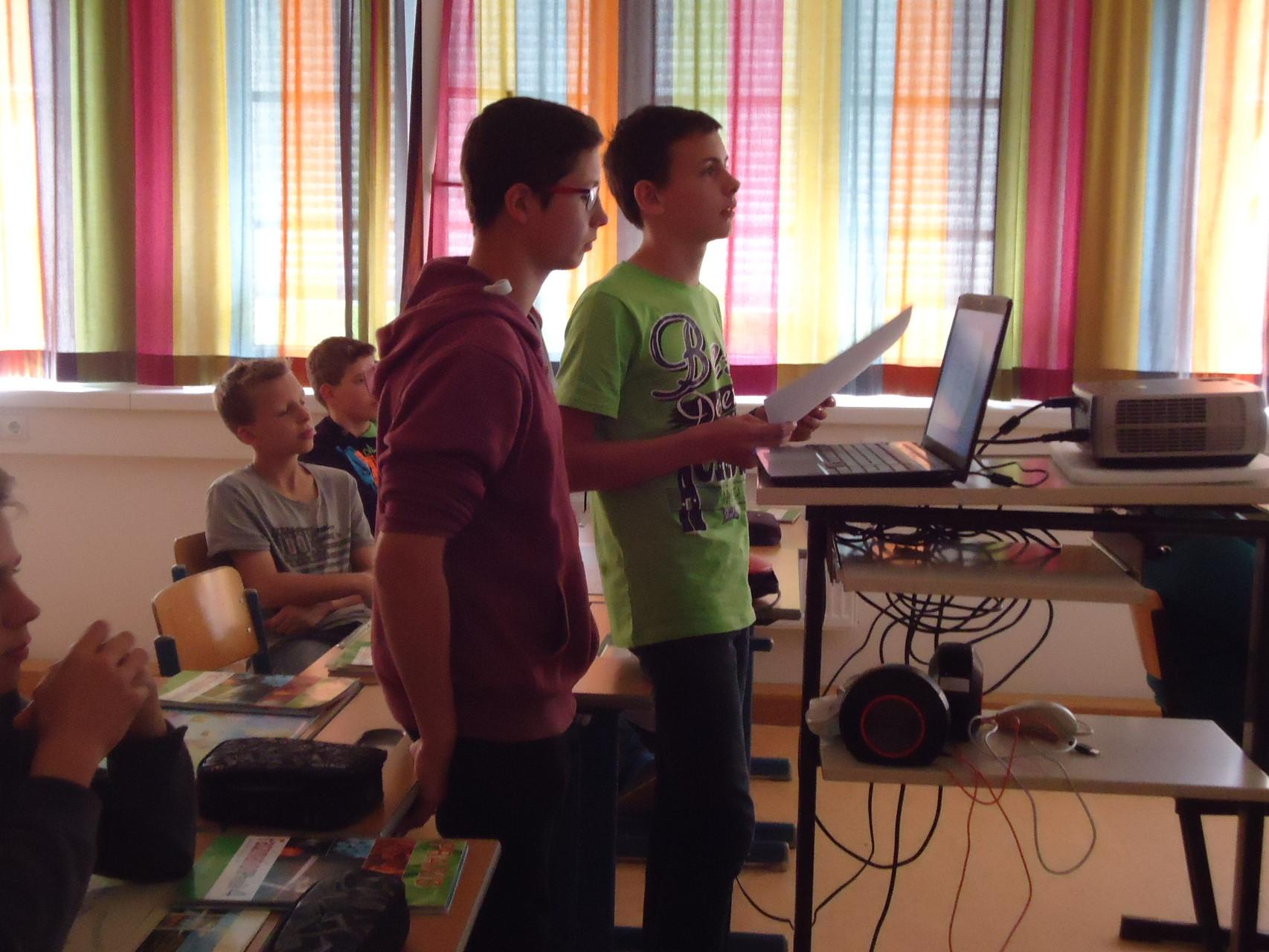 Unsere Experten mitten im Vortrag