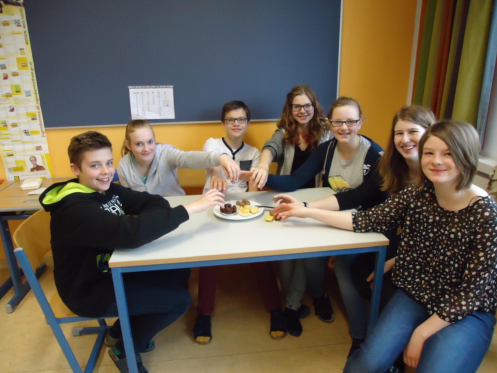 Essen schmeckt während des Unterrichts bestens!