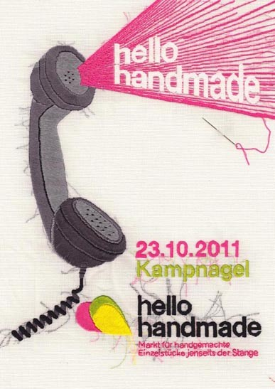 Wettbewerbsbeitrag hello handmade Plakat 2011