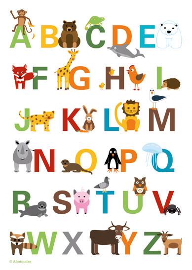 ABC-Poster für Ahoimeise