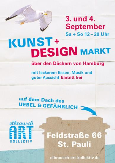 Veranstaltungsplakat Elbrausch Art Kollektiv