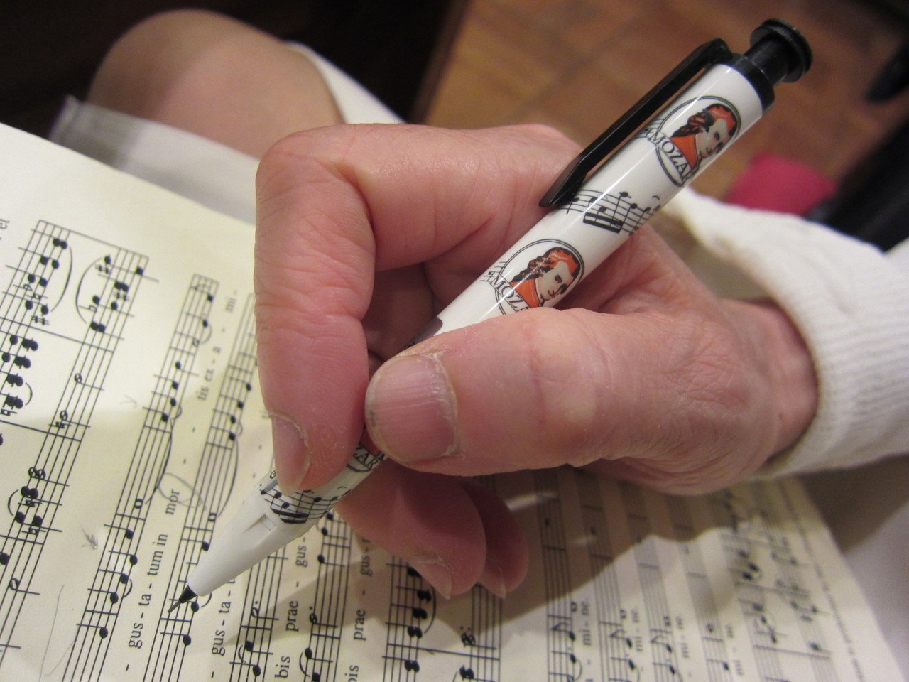 Ave Verum Corpusの楽譜にモーツァルトのペン!!!