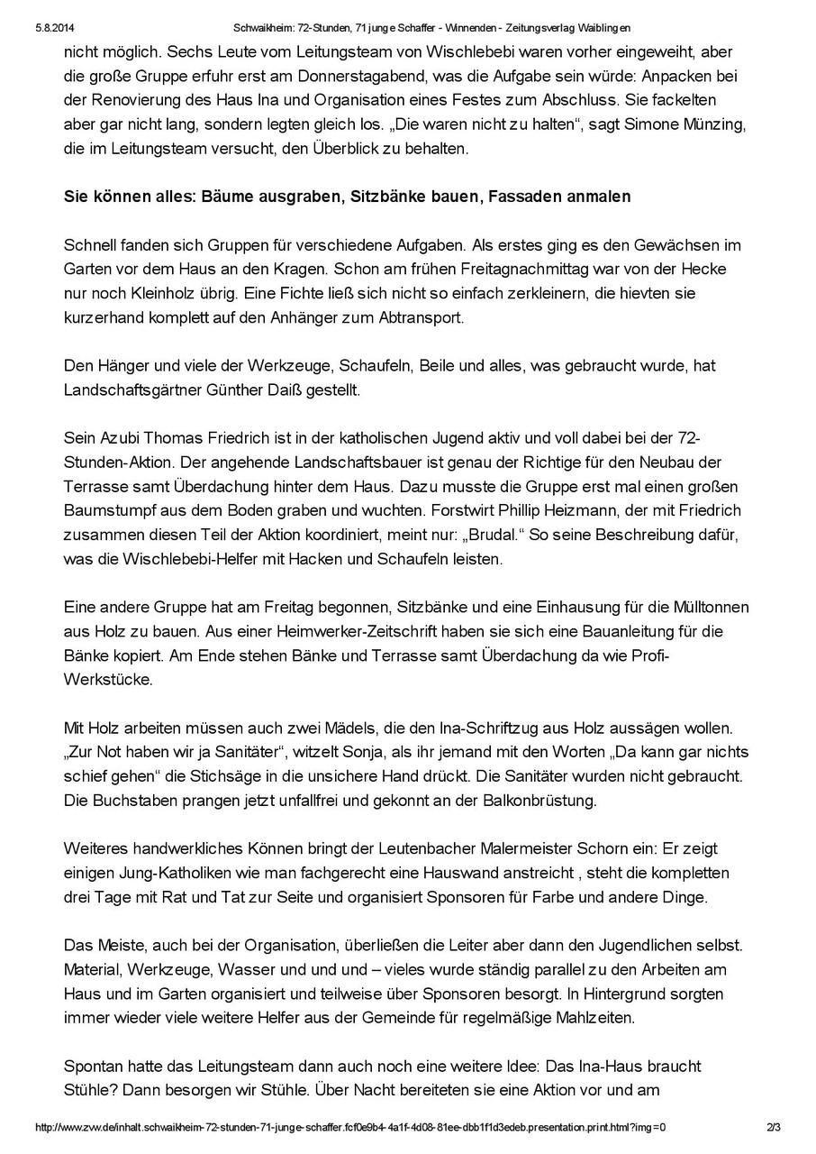 Presse Ina Ev Integrations Und Nachhilfe Schwaikheim