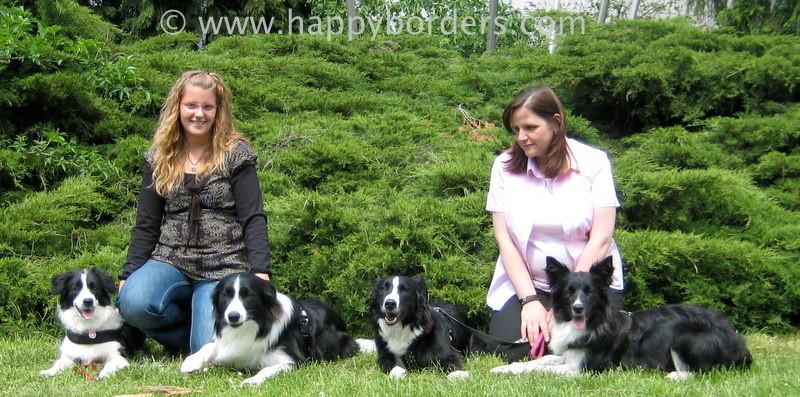 Hier ein Foto mit: Mia, Jay, Claire und Sassy