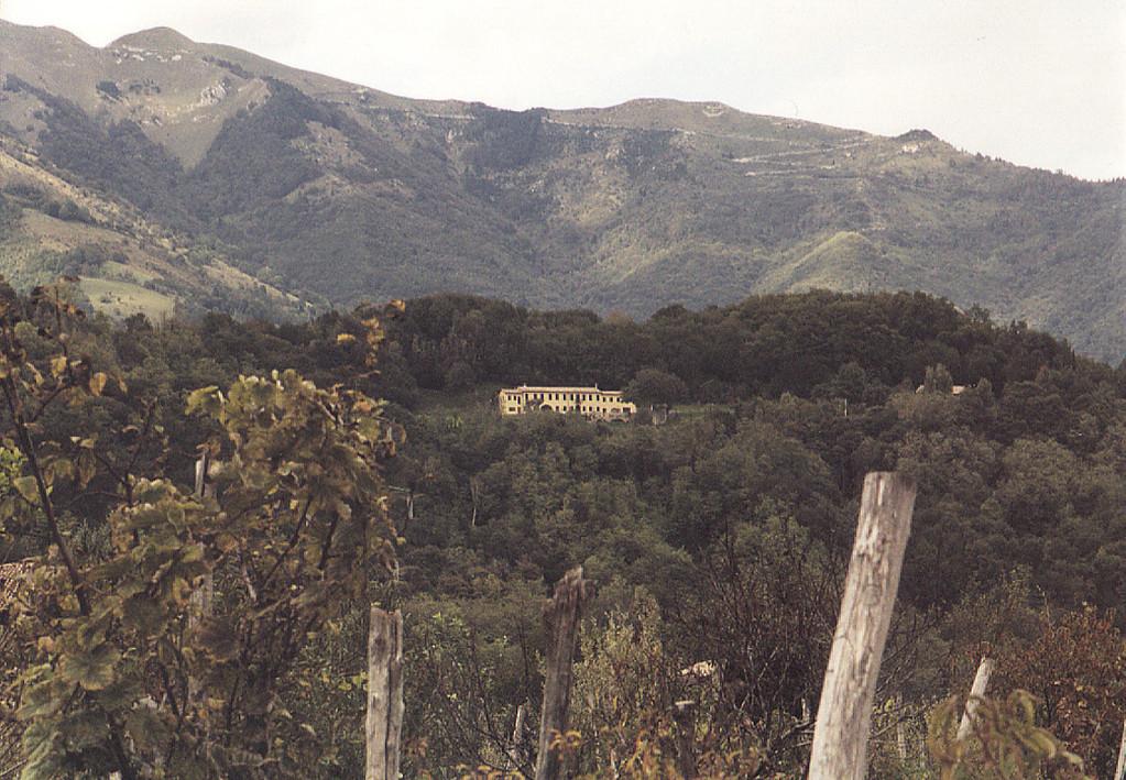 Das Haupthaus, Col Muson, von Castelcucco aus gesehen