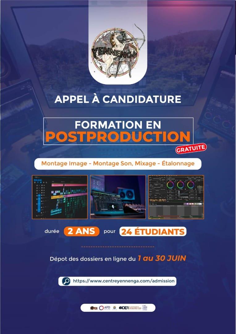 SENEGAL : appel à candidature du Centre Yennenga pour une formation en post-production