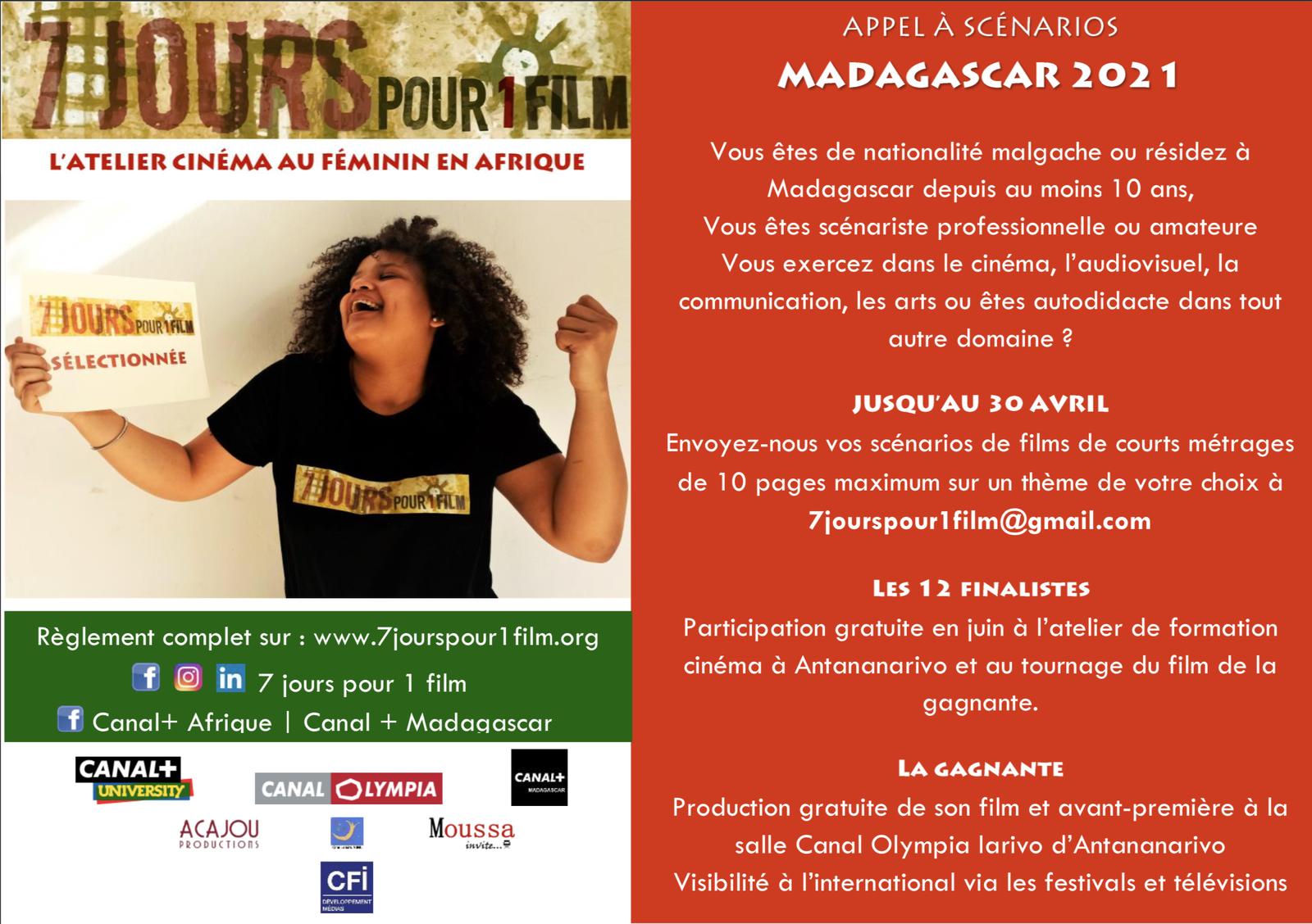MADAGASCAR : 7 JOURS POUR UN FILM lance un appel à projets