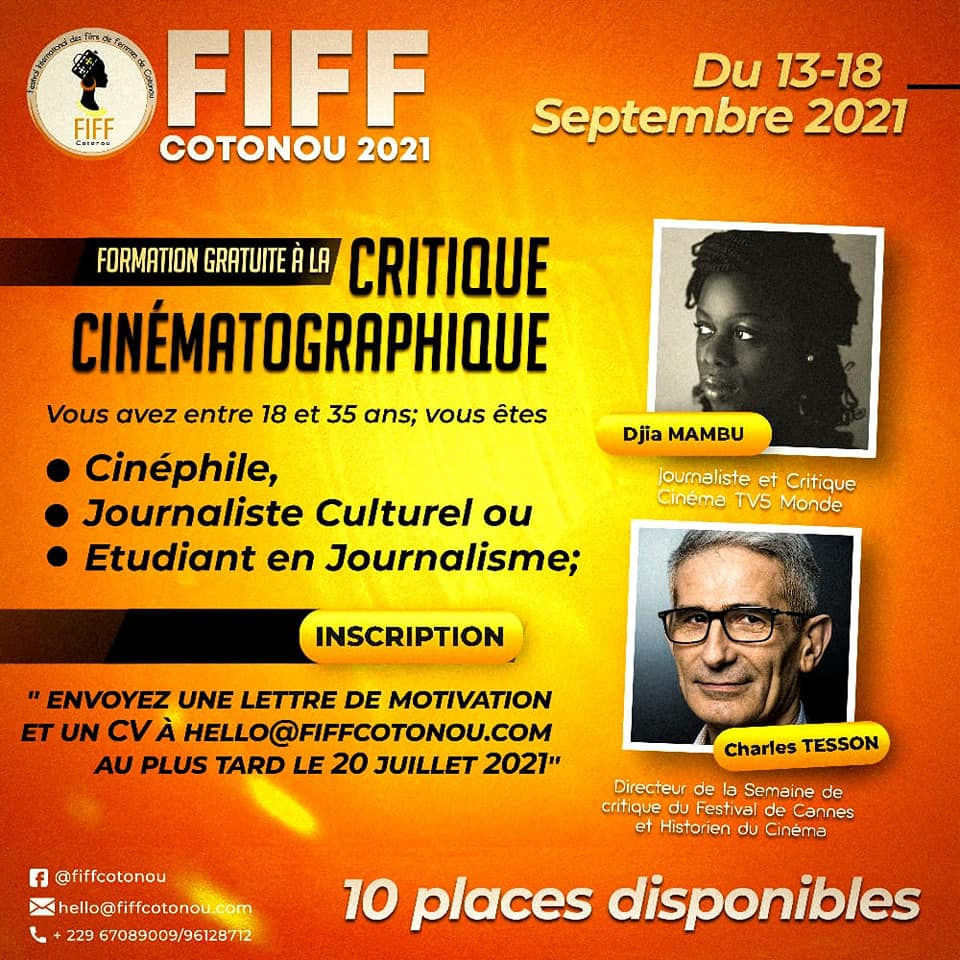 BENIN: Ecranbenin lance un appel à candidature pour la formation de critiques de cinéma