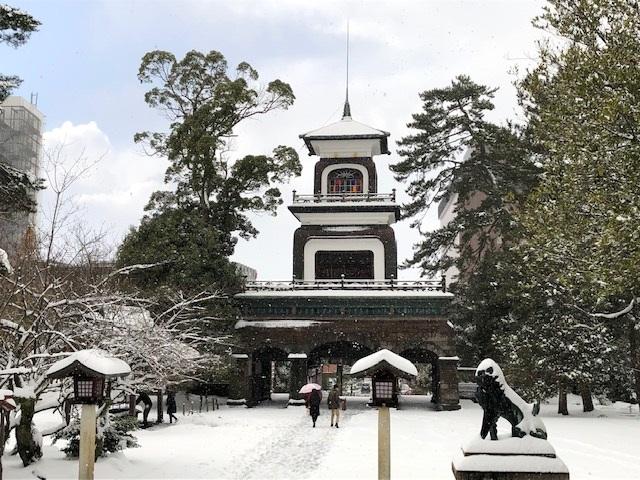 雪の金沢~尾﨑神社~尾山神社~玉泉院丸庭園