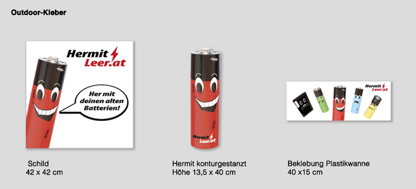 3. Batterie-Sammelkampagne angelaufen – Sammelstellenaufkleber