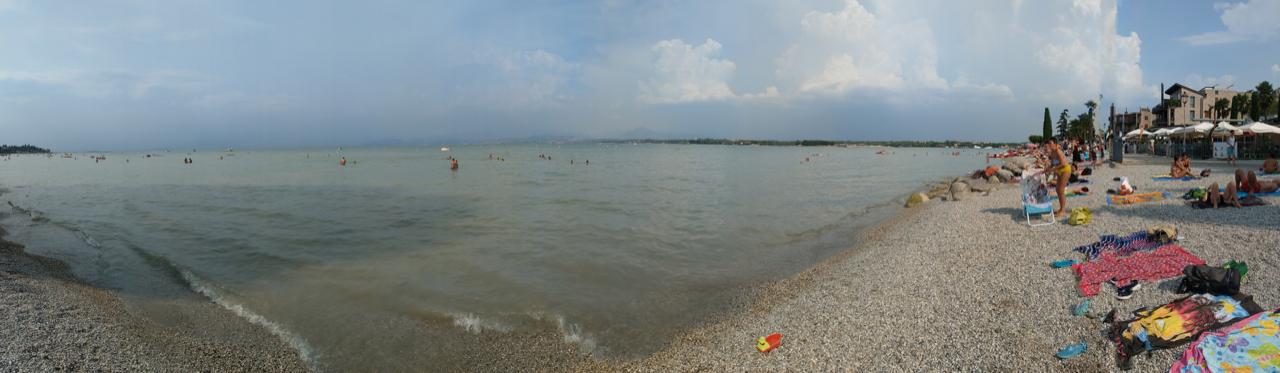 Endlich am Gardasee in Peschiera