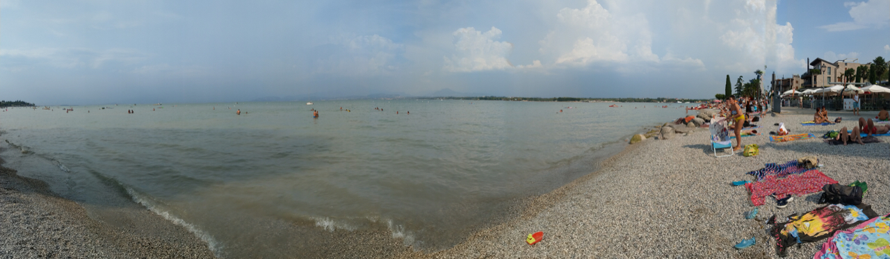 Endlich am Gardasee in Peschiera