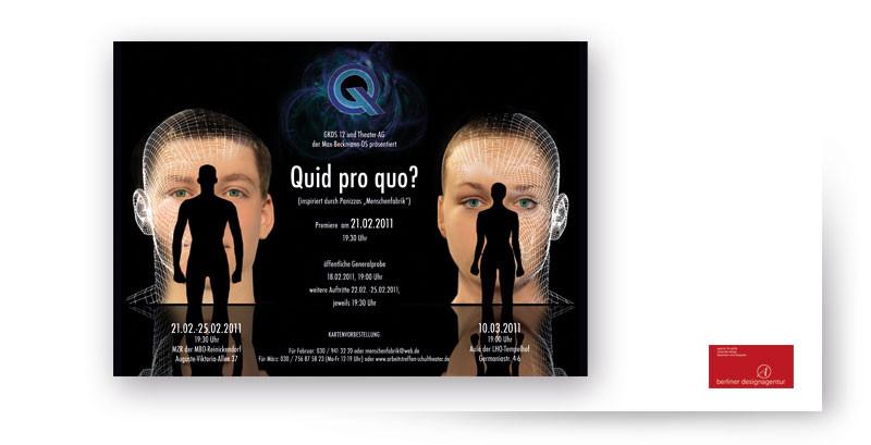 "Theater AG ""Maxime"" - Plakate, Fotografie, Webseitengestaltung."