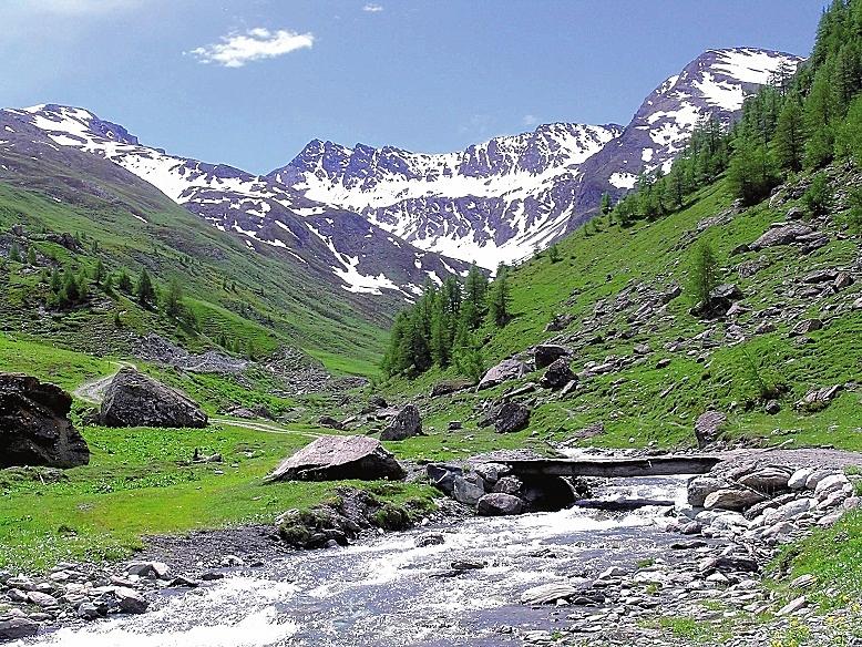 Un suggestivo scorcio naturale della Val Troncea