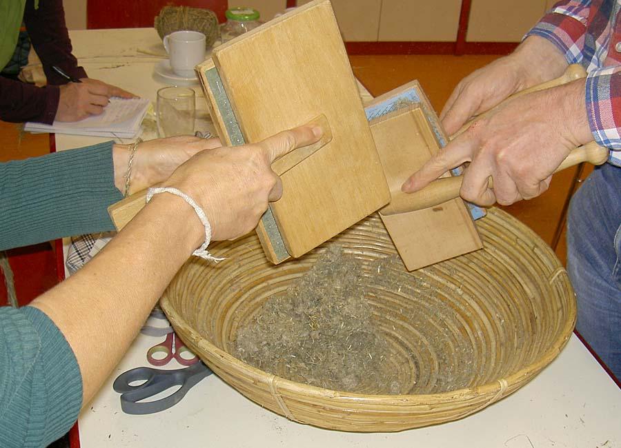 Fasern kardieren und zerkleinern für Papier