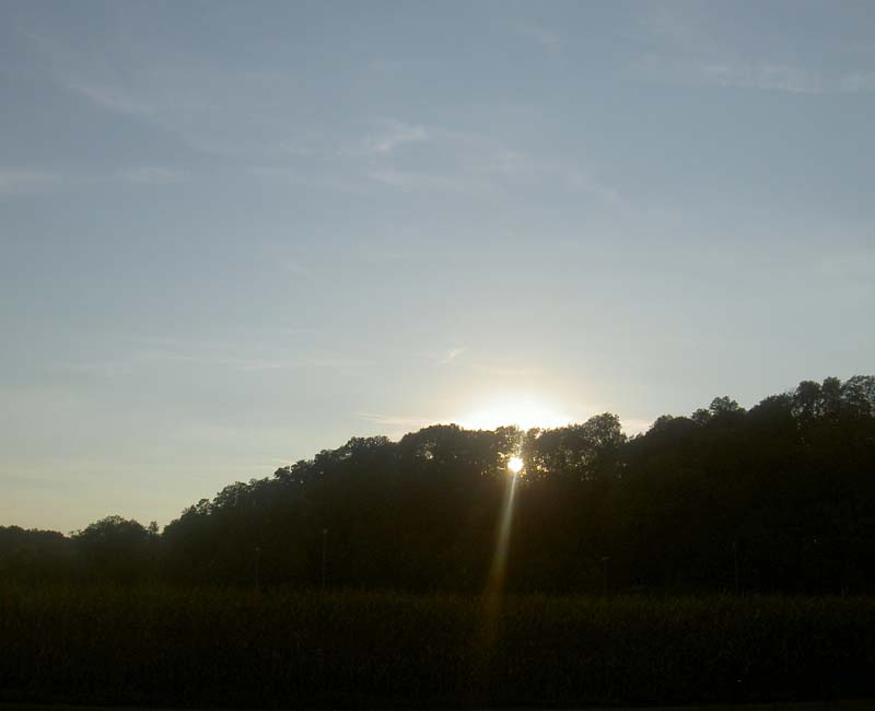 Sonnenuntergang im Murrtal