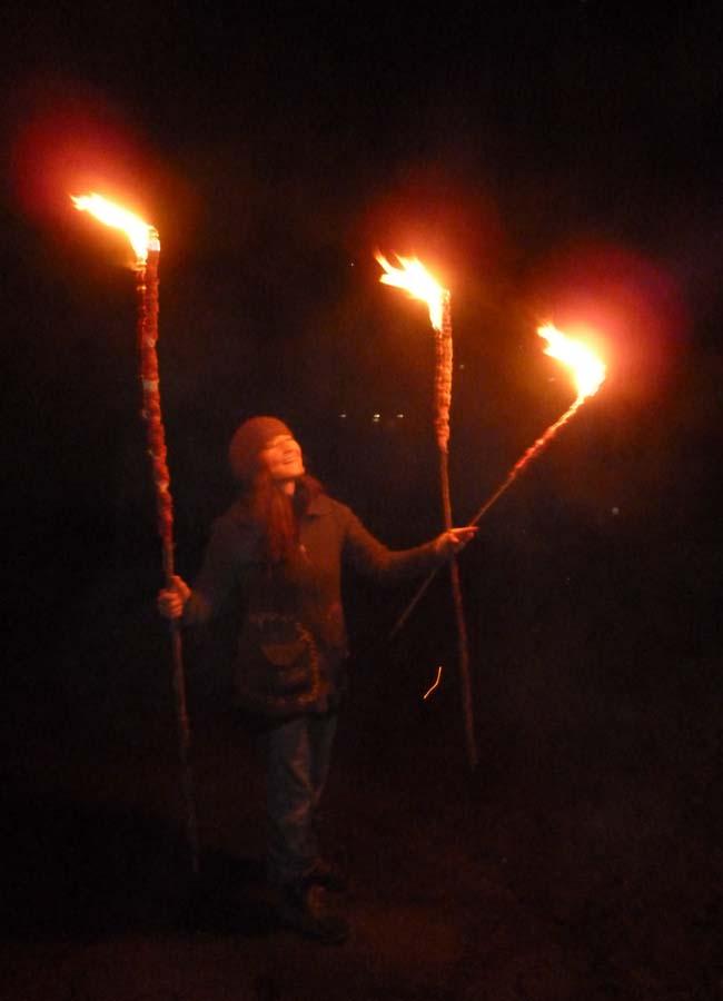 Fackel aus Königskerzen, Neujahrsbrot mit Brennnessel