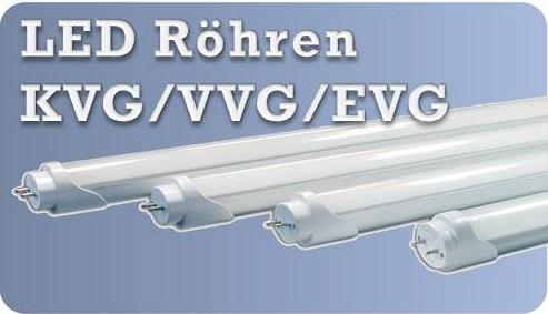 Produktauswahl LED Röhren