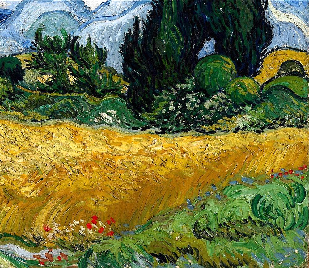 Van Gogh, le champ de blé - détail