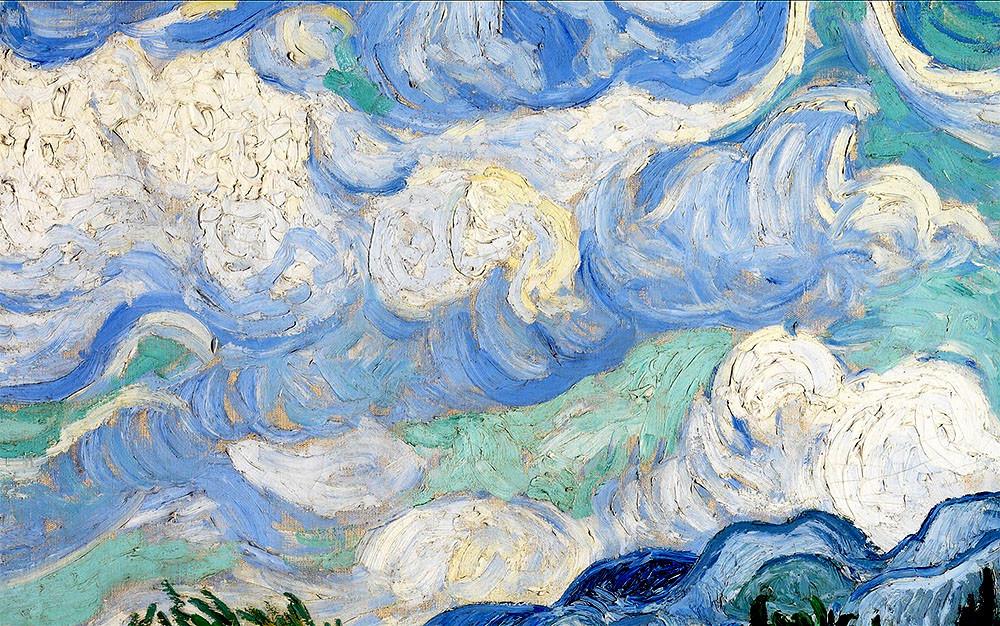 Van Gogh, le champ de blé - détail du ciel