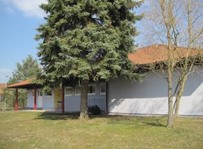 Gebäude der Kita Piepmatz in Grumbach