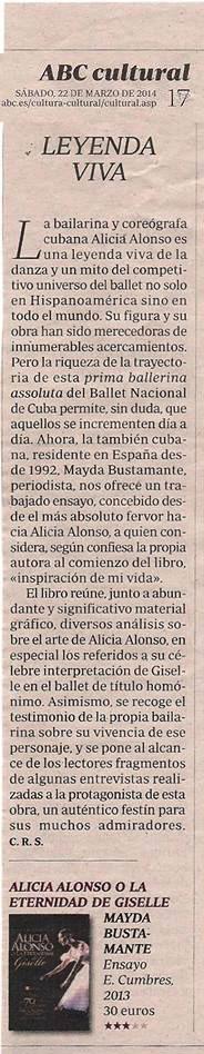 Crítica publicada en ABC. Marzo 2014