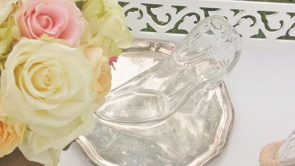 Bild: Gläserner Schuh mit AMG-FREIE REDNERIN Cinderella-Trauung im Seehotel Töpferhaus