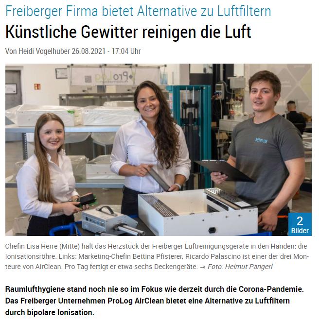 ProLog AirClean in der Bietigheimer Zeitung