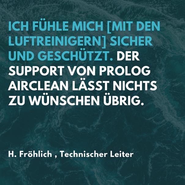 Rezension von unserem Kunden Herr Fröhlich