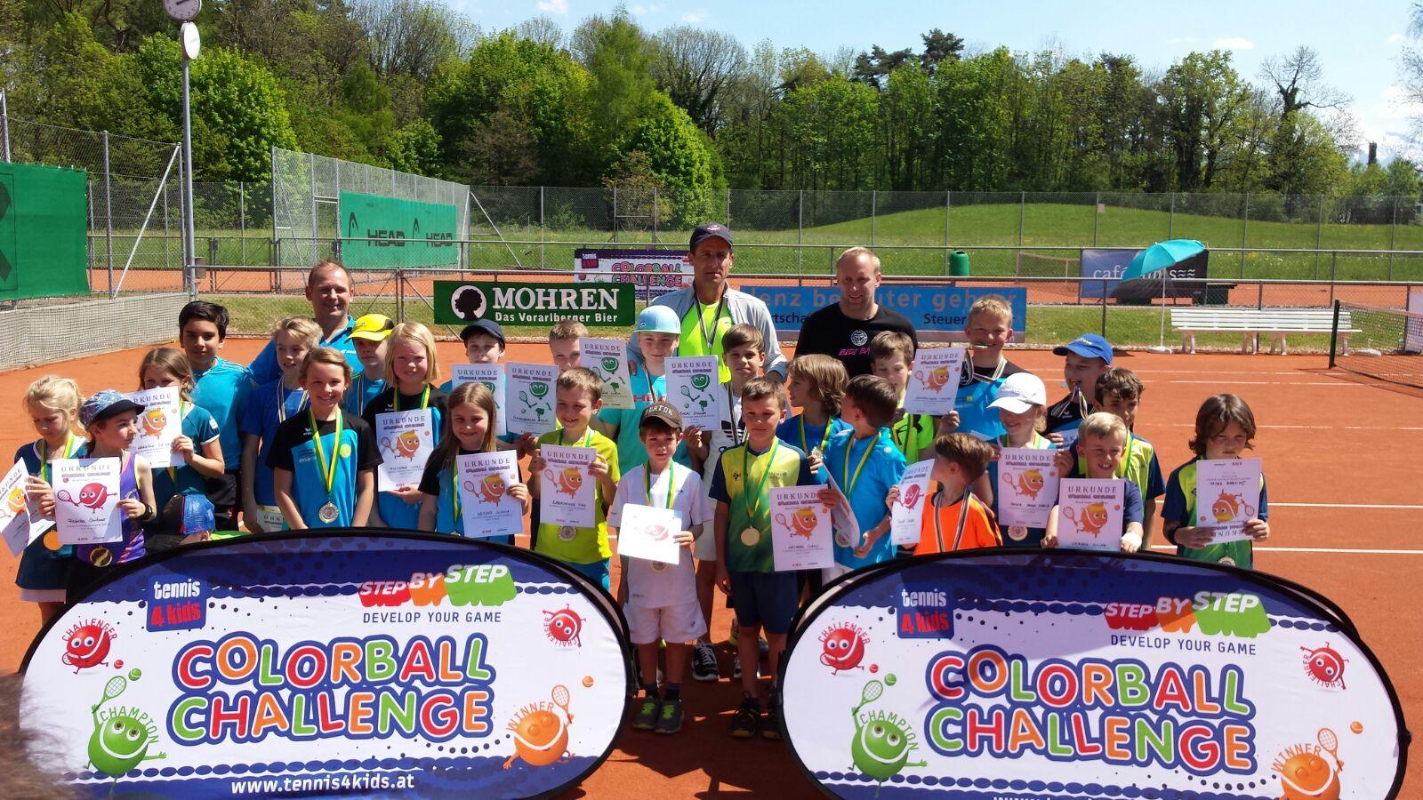 Gruppenbild mit unseren Tennis-Stars