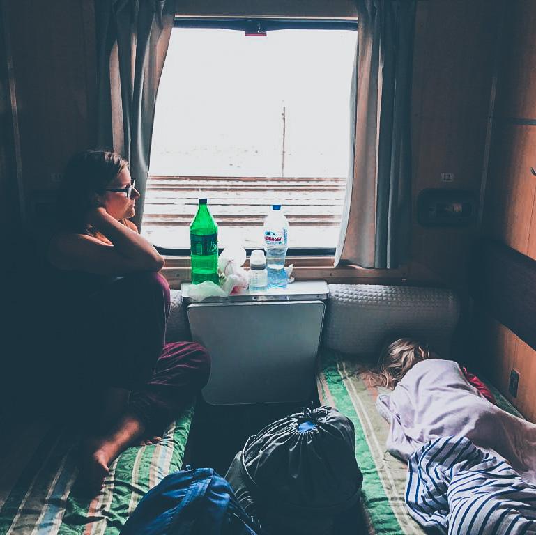 Im Nachtzug von Tiblis nach Baku (Foto: Miriam Grün)