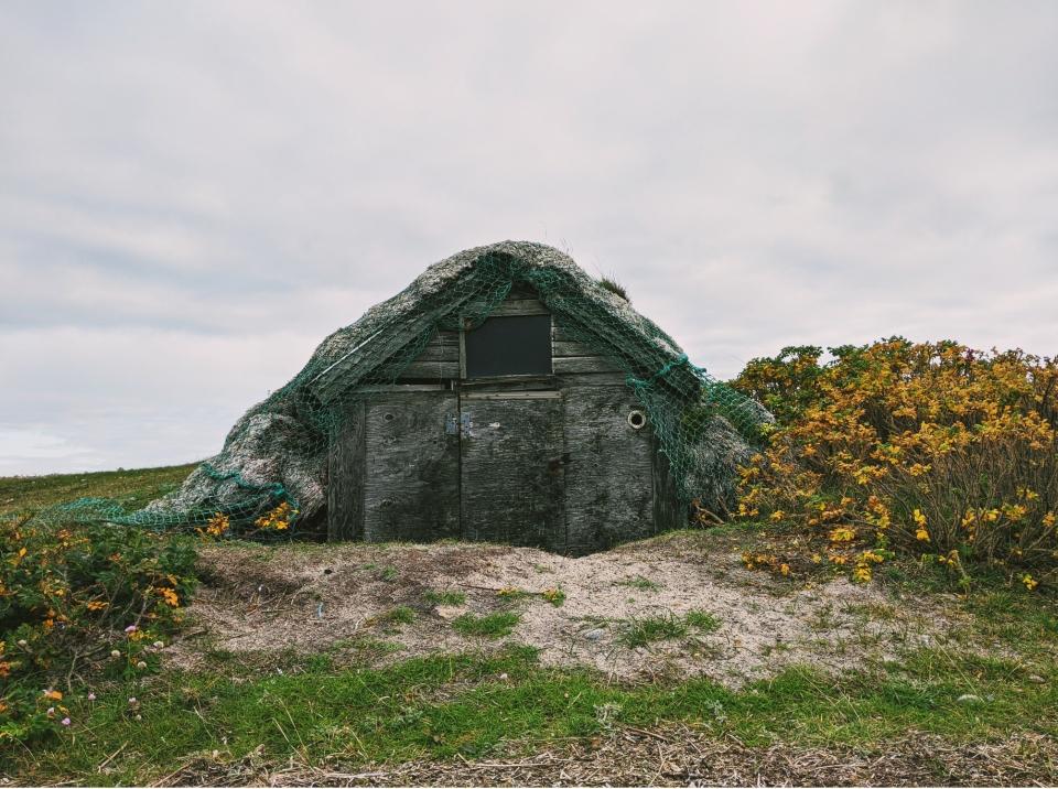 Eine kleine süße Fischerhütte