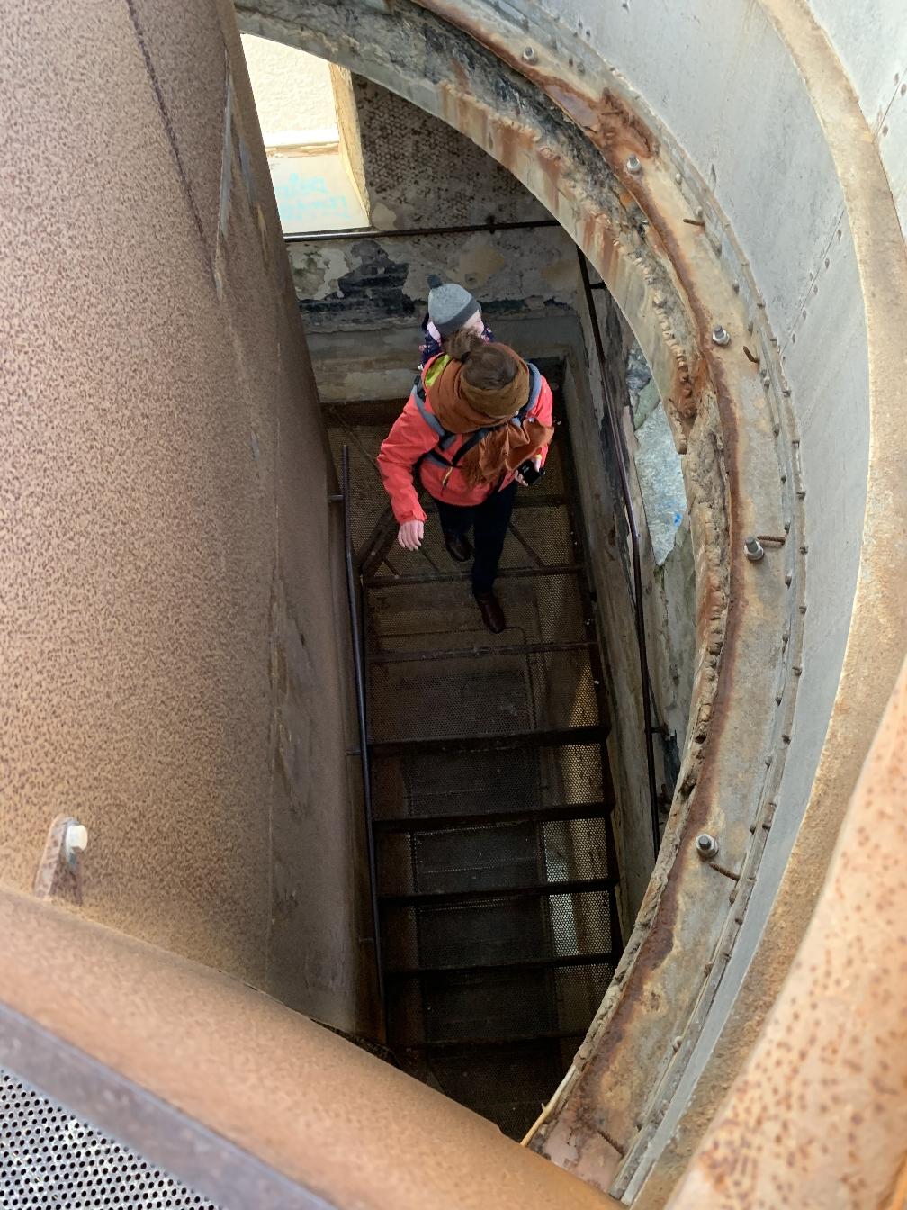Im Treppenhaus des Leuchtturms