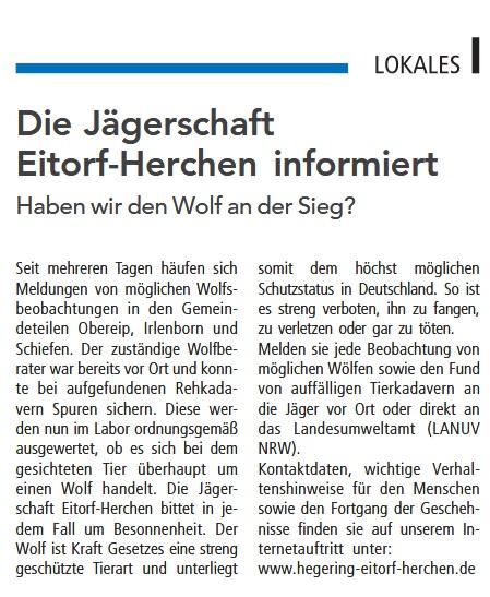 Quelle: Mitteilungsblatt Eitorf 24. Mai 2019