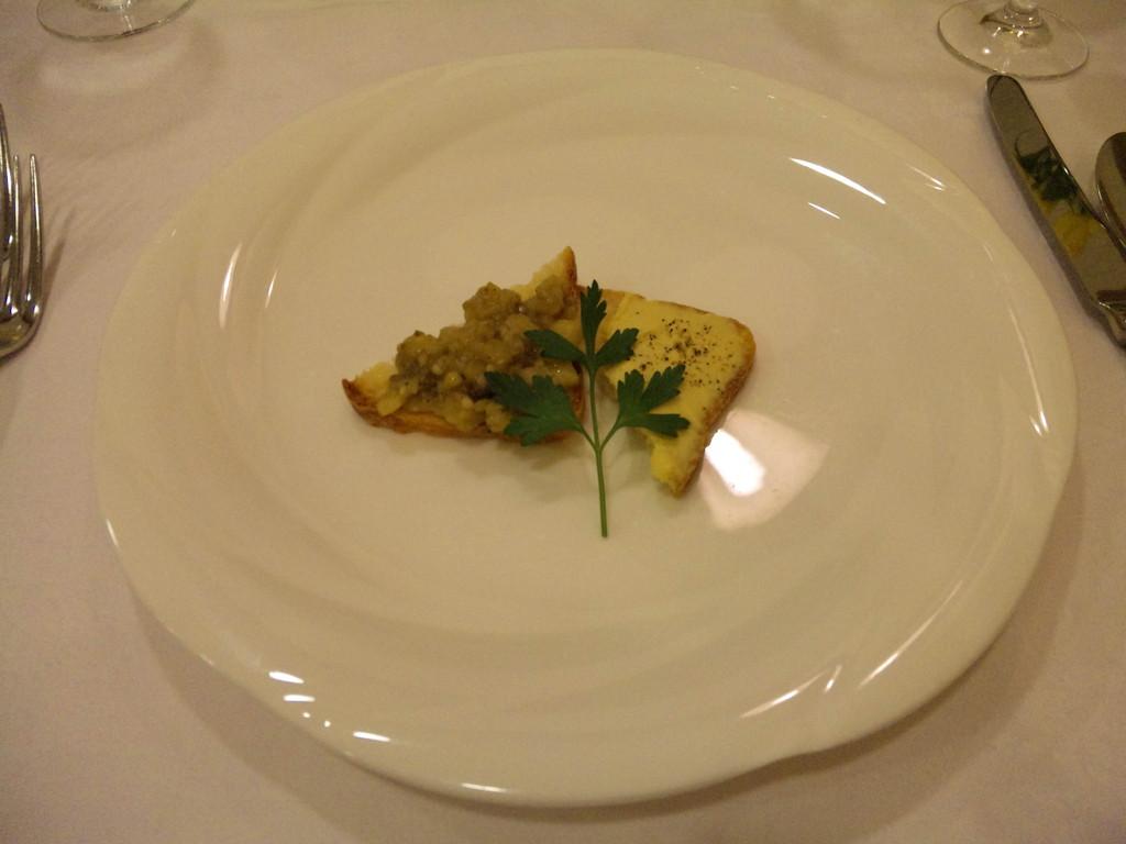 前菜 なすのマリネとフォアグラのペースト