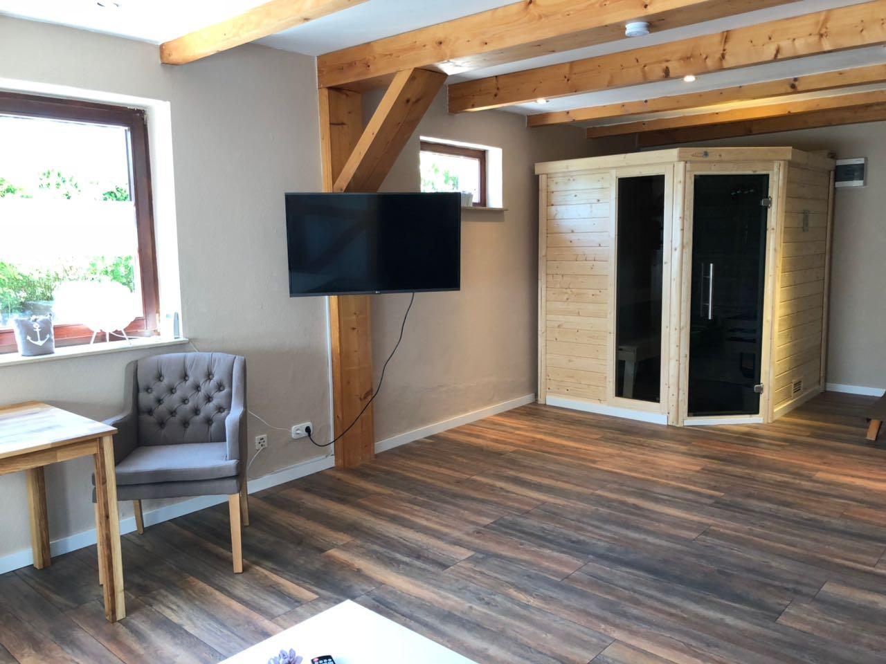 Sauna - Wohnzimmer Sicht nach hinten